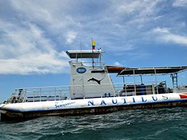 Tour on board the submarine Nautilus - San Andres