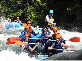 Excursión en todo terreno y rafting