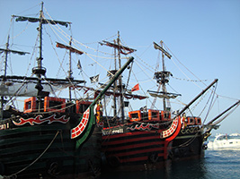 Pirate show on Captain Hook's Galleon, Cancun (and vicinity)
