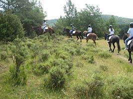 Equitación en el Pirineo