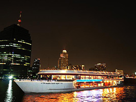 Evening dinner cruise with white orchid cruise, Bangkok