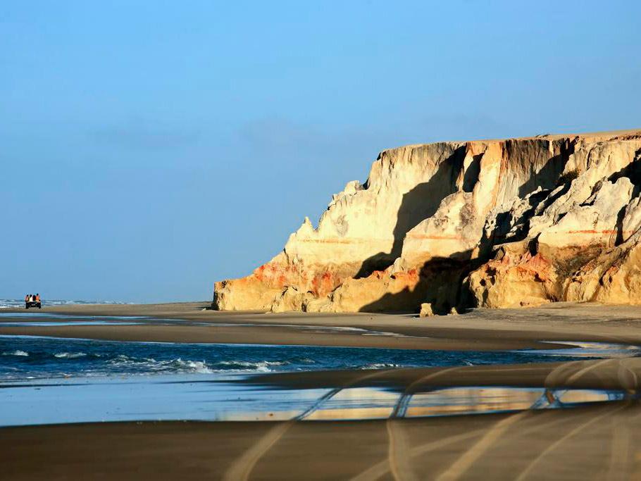 Praia de Morro Branco desde Fortaleza