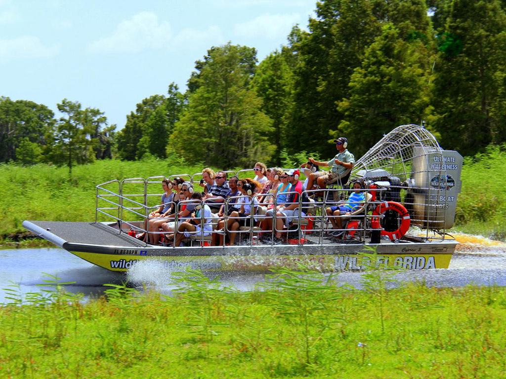 Aventura com jacarés e aerobarco em Orlando