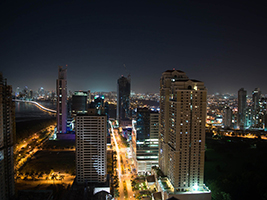 Panama by night, Panama City