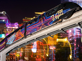 The Las Vegas Monorail, Las Vegas - NV