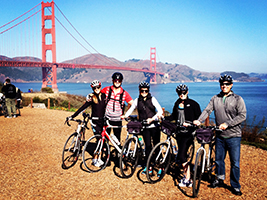 Guided California Sunset Bike Tour, San Francisco Area - CA