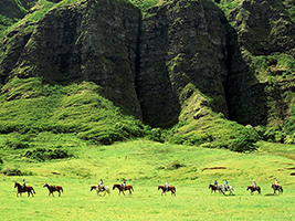 Kualoa Ranch Horseback Riding, Hawaii - Oahu - HI