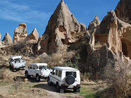 Jeep safari and Turkish bath, Cappadocia