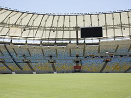 Behind the scenes at Maracaná Stadium, Rio de Janeiro