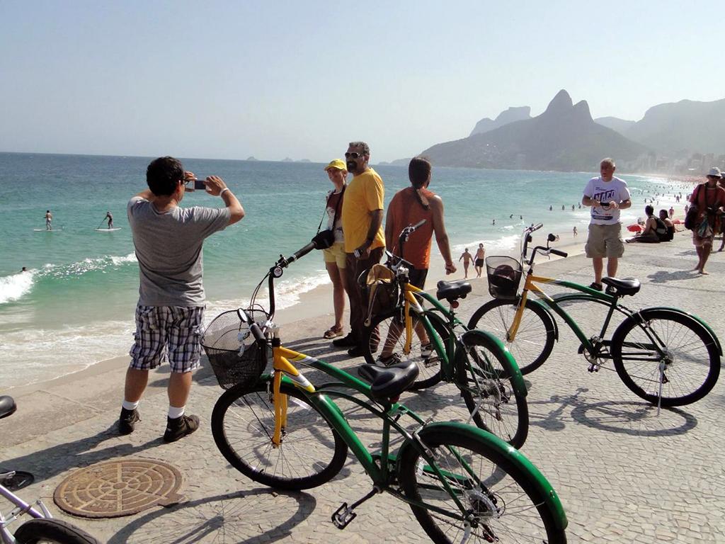 Tour em bicicleta - Praias, Lagoa Rodrigo de Freitas, jardim botânico e pôr do sol