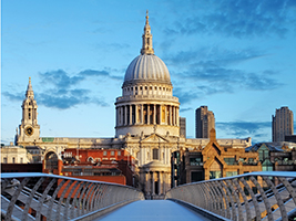 River cruise and St Paul's Cathedral admission, London