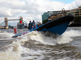 Speed Boat Ride on the River Thames, London