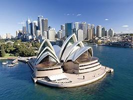 City, Harbour & Bondi Beach with Sydney Opera House, Sydney - NSW