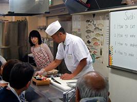 Tsukiji Outer Fish Market and Sushi Workshop, Tokyo