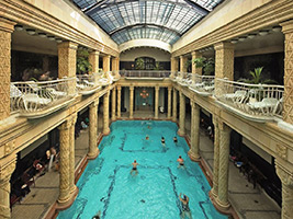 Combo: Gellért Spa + Dinner and Cruise with Live Music, Budapest