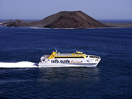 Ferry to Fuerteventura with Fred Olsen, Lanzarote