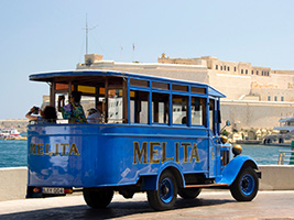 Three Cities Vintage bus Tour, Malta