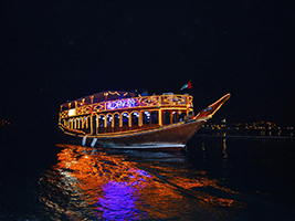 4 Star Deluxe Dubai Creek Dinner Cruise, Dubai