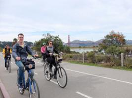 North Beach to Golden Gate Bridge by Bike - In French, San Francisco Area - CA