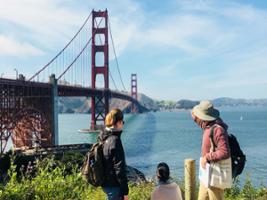 The Golden Gate Historical Walk with Secret Bridge Viewpoint, San Francisco Area - CA