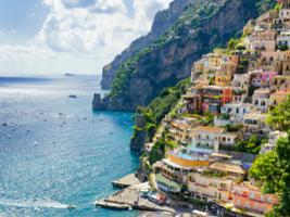 Unesco Jewels: One-day Private Tour of Positano and Amalfi Coast by High-speed Train with Pick-up, Rome