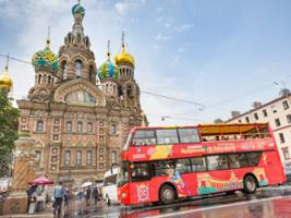 Hour Hop-On Hop-Off Bus and 1 Day Boat Tour, St Petersburg